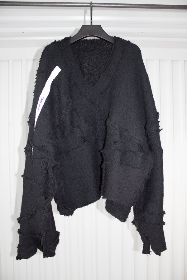 NELLY JOHANSSON HAND PATCHED WOOL SWEATER