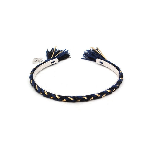 FRIENDCHIC - NAVY AND BLACK WITH SILVER