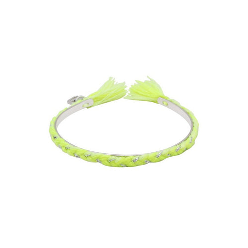 FRIENDCHIC - NEON YELLOW WITH SILVER
