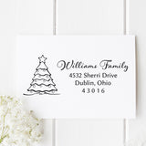 Christmas Tree Return Address Stamp H27 - Stamp Nouveau