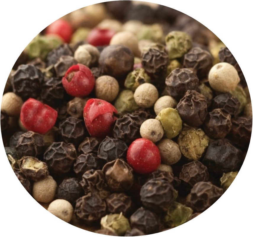 Mixed Premium Peppercorns White, Black, Green and Pink