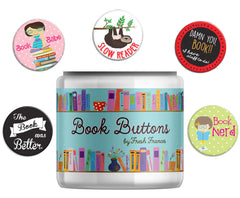 Book Button Jar