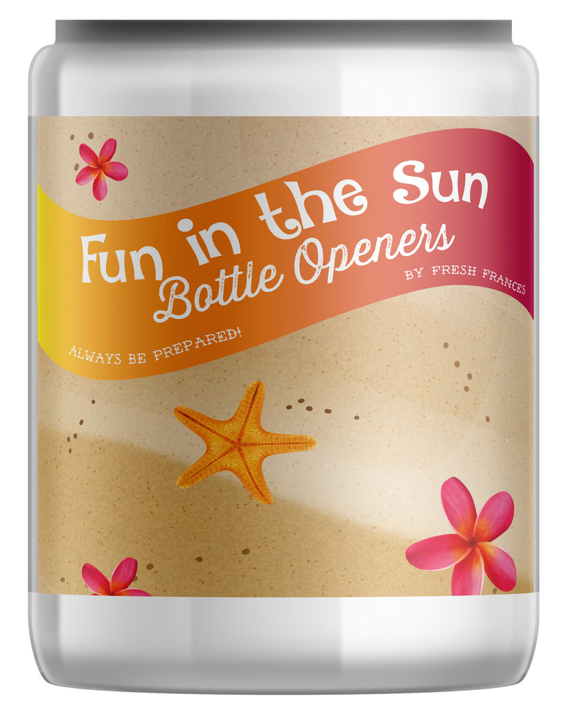 Fun in the Sun Bottle Openers Jar