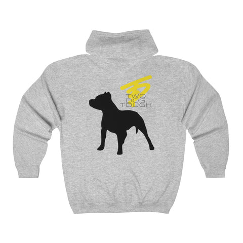 Two Dog Tough™ Classic Pitbull Silhouette Zip Hoodie