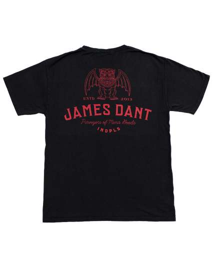 Dog Daze Pocket Tee - Black/Crimson