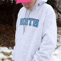"North ""College Logo"" Champion Hoodie"