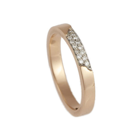 Blitz 18ct Rose Gold 3mm Diamond Ring