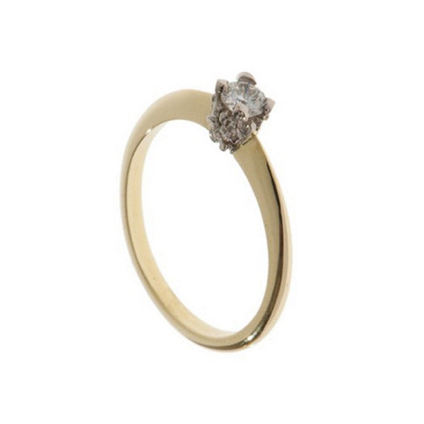 Collette 18ct Yellow Gold .25pt Diamond Ring