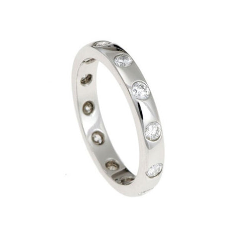 Blue Platinum Eternity Ring