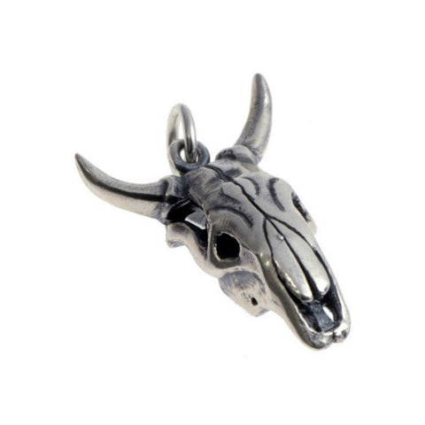 Silver Cow Skull Charm