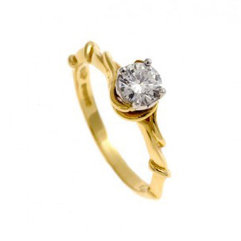 Entwine 18ct Yellow Gold Ring with .50pt Diamond