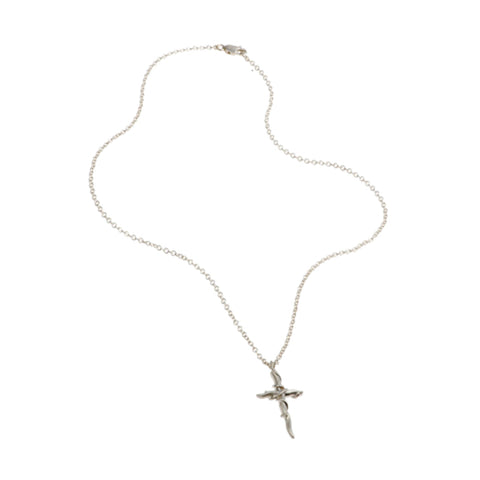 Entwine Silver Cross Necklace