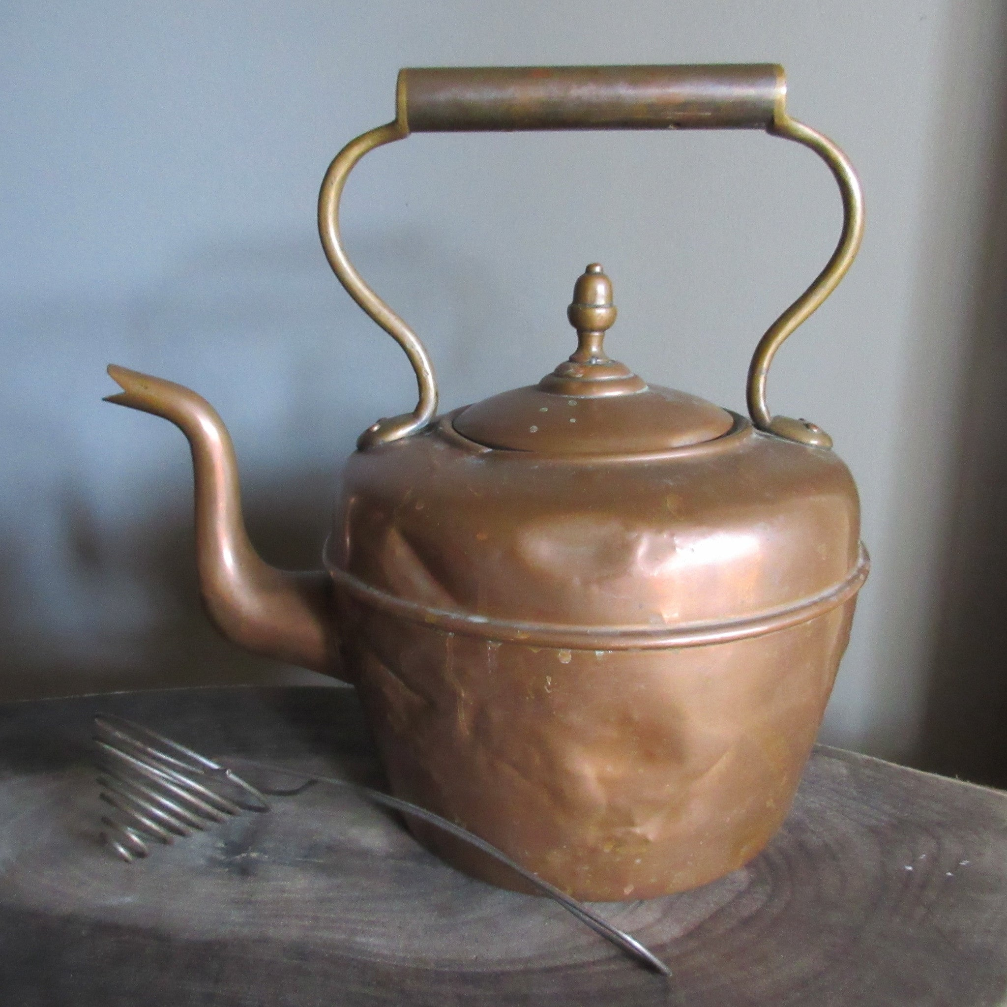 Copper Tea Pot British Antique