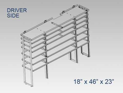 "Driver Side Alum. Kit - 18"" x 46"" x 23"""