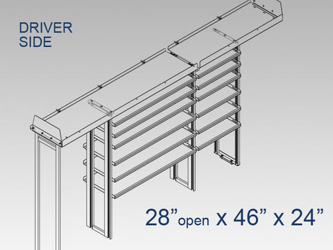 "Driver Side Alum. Kit - 28"" open x 46"" x 24"""