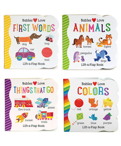 Babies Love Learning: 4 Pack - Lift-a-Flap Books - Cottage Door Press