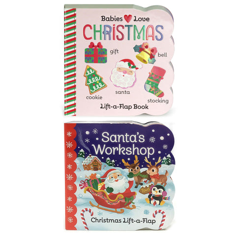2 Pack - Babies Love Christmas and Santa's Workshop - Cottage Door Press