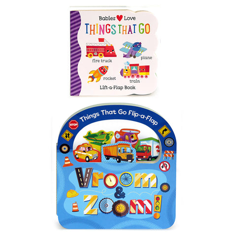 2 Pack: Vroom & Zoom and Things That Go Lift-a-Flap Books - Cottage Door Press