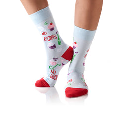No Regrets: Women's Crew Socks - Yo Sox Canada