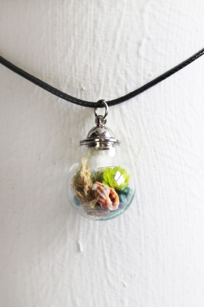 Everglades Glass Bottle Terrarium Necklace