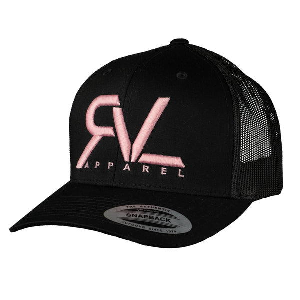 The Trucker - Black/Pink