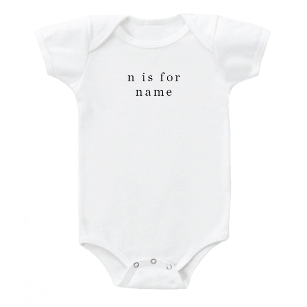 'N is for Name' Onesie - 100% organic cotton
