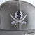 Gray Pirate & Loot Snapback Hat