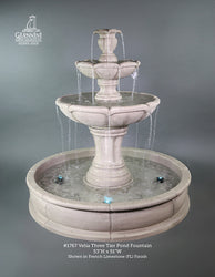 Velia Three Tier Pond Fountain - Outdoor Fountain Pros