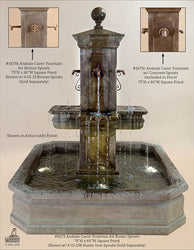 Anduze Carre Fountain with Square Pond - Outdoor Fountain Pros