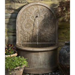 Corsini Wall Garden Water Fountain, Wall Outdoor Fountains - Outdoor Fountain Pros