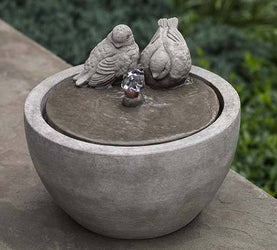 M-Series Bird Small Water Fountain, Garden Outdoor Fountains - Outdoor Fountain Pros