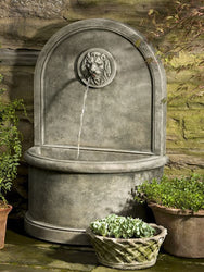 Lion Wall Outdoor Water Fountain, Wall Outdoor Fountains - Outdoor Fountain Pros