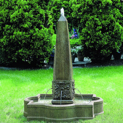 Palazzo Obelisk Outdoor Water Fountain, Garden Outdoor Fountains - Outdoor Fountain Pros