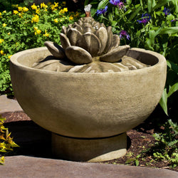 Smithsonian Lotus Garden Water Fountain, Garden Outdoor Fountains - Outdoor Fountain Pros