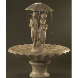 Springtime Cast Stone Outdoor Fountain, Large Outdoor Fountains - Outdoor Fountain Pros