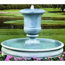 Tall Urn Cast Stone Outdoor Fountain - Large, Urn Outdoor Fountains - Outdoor Fountain Pros