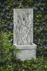 Dragonfly Square Wall Water Fountain, Wall Outdoor Fountains - Outdoor Fountain Pros