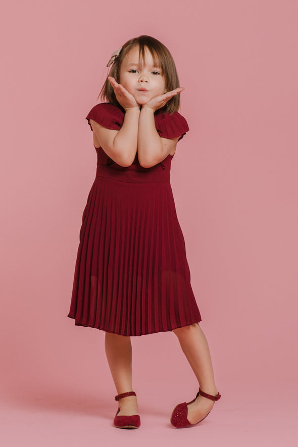 MINI Alice In Wonderland Dress in Wine