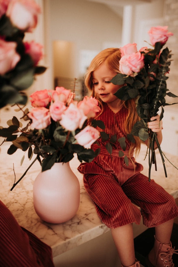 Mini Rosie Velvet Jumpsuit