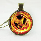 Hunger Games Burning Mockingjay Necklace - The Dragon Shop - Geek Culture