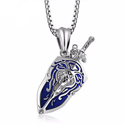 Alliance Shield Steel Necklace - The Dragon Shop - Geek Culture
