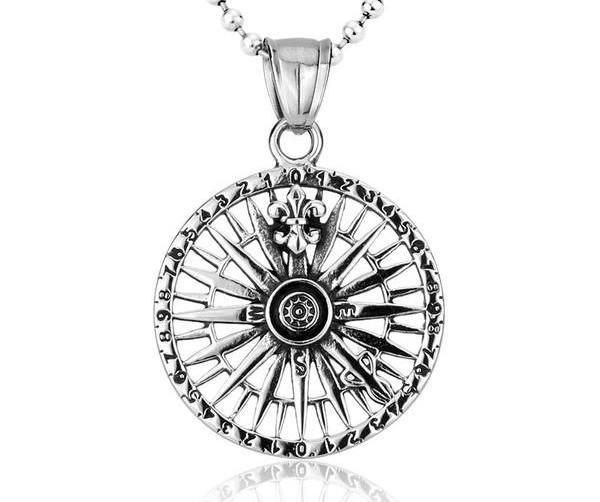 WARRIOR'S COMPASS Steel Necklace - The Dragon Shop - Geek Culture