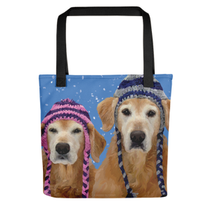 Winter Goldens in the Snow Tote Bag