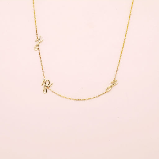 Initial Necklace (Three Letters)