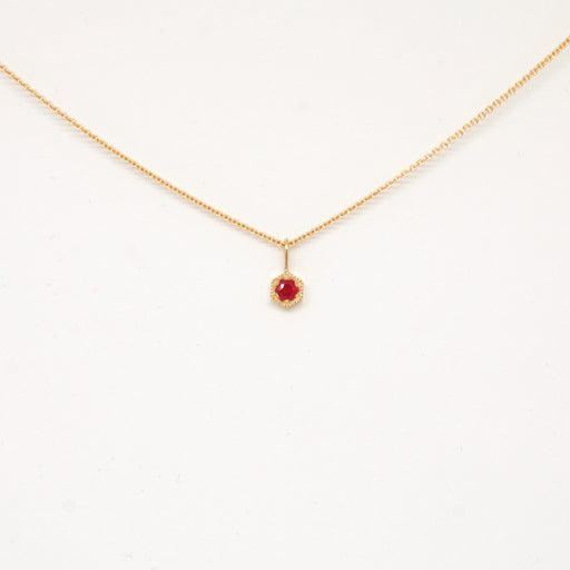 Ruby (July) Birthstone Necklace
