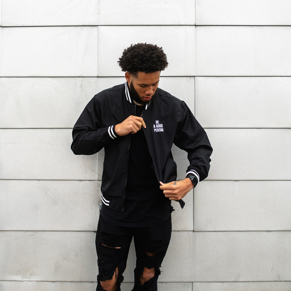 Black Signature Bomber Jacket