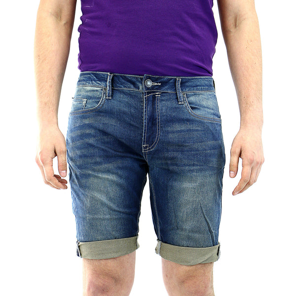 Buffalo by David Bitton Parker-X Jean Shorts - Heavy Sanded/Rifted - Mens