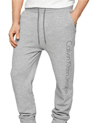 Calvin Klein Modern Fit Knit Logo Pants  - Grey Heather - Mens