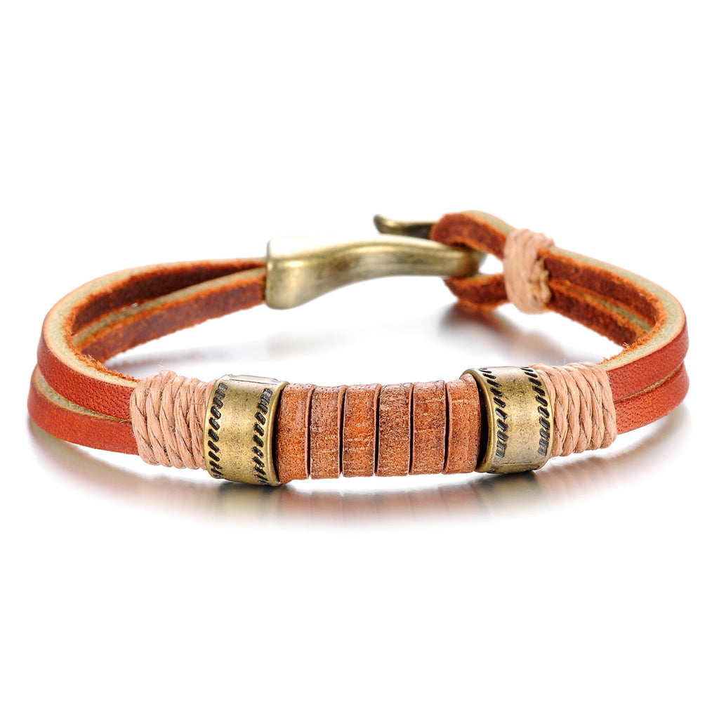 GENUINE LEATHER MEN'S BRACELET