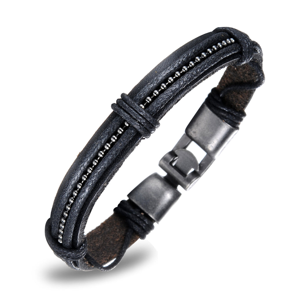 MEN'S GENUINE LEATHER BRACELET